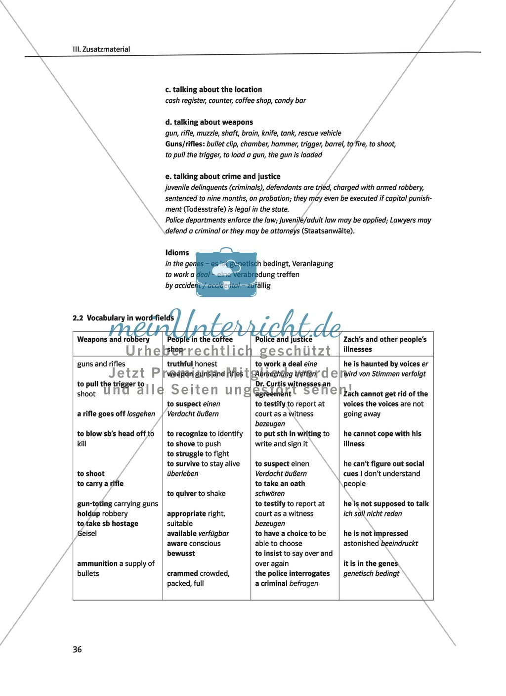 "Terry Trueman ""Inside Out"": Detailed vocabulary list and word fields Preview 2"