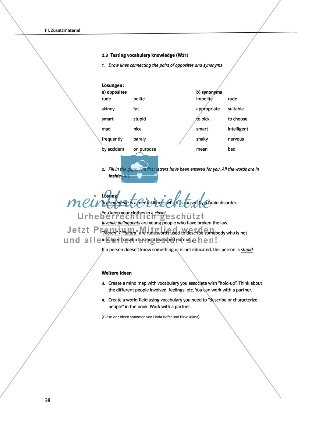 "Terry Trueman ""Inside Out"": Detailed vocabulary list and word fields Preview 4"