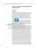The media in India: Bollywood movies and international TV: Sachanalyse + Lernziele + Unterrichtseinheiten + Kopiervorlagen Preview 1