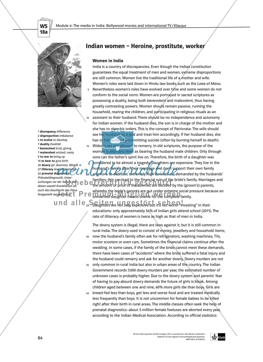 The media in India: Bollywood movies and international TV: Sachanalyse + Lernziele + Unterrichtseinheiten + Kopiervorlagen Preview 36