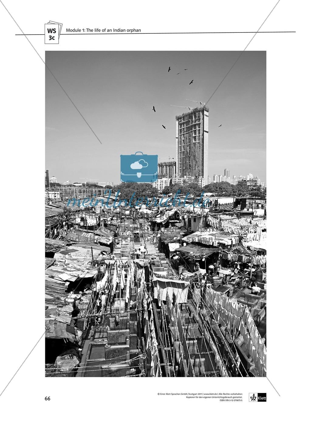 The Movie Slumdog Millionaire: Sachanalyse + Lernziele + Unterrichtseinheiten + Kopiervorlagen Preview 14