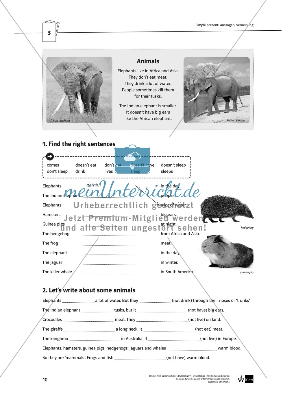 Arbeitsblätter für einen kommunikativen Grammatikunterricht: Simple Present Preview 4