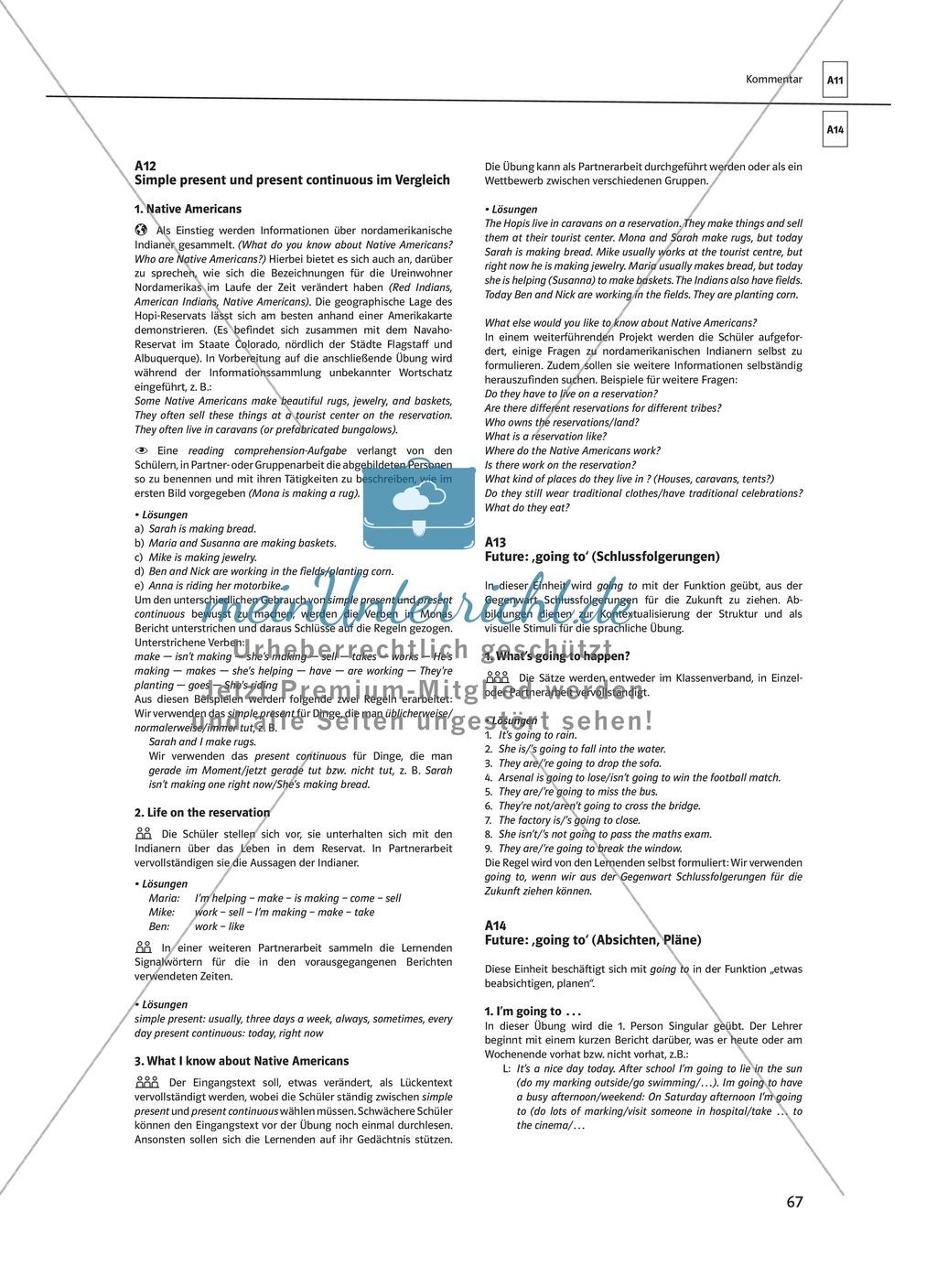 Arbeitsblätter für einen kommunikativen Grammatikunterricht: Present continuous Preview 9