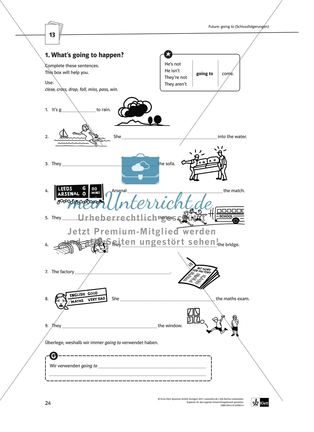 Arbeitsblätter für einen kommunikativen Grammatikunterricht: Future Preview 0