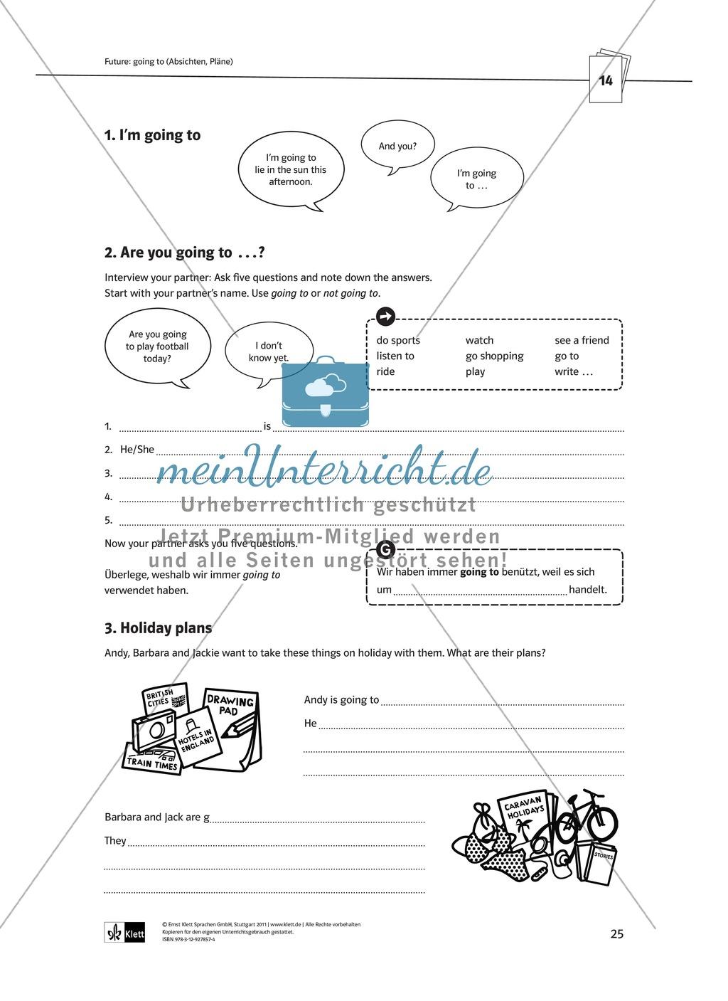 Arbeitsblätter für einen kommunikativen Grammatikunterricht: Future Preview 1