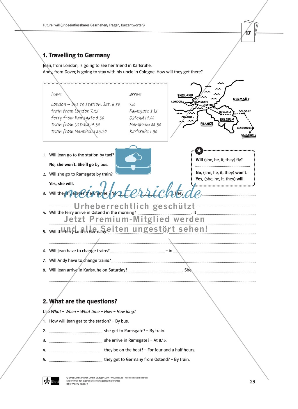 Arbeitsblätter für einen kommunikativen Grammatikunterricht: Future Preview 5