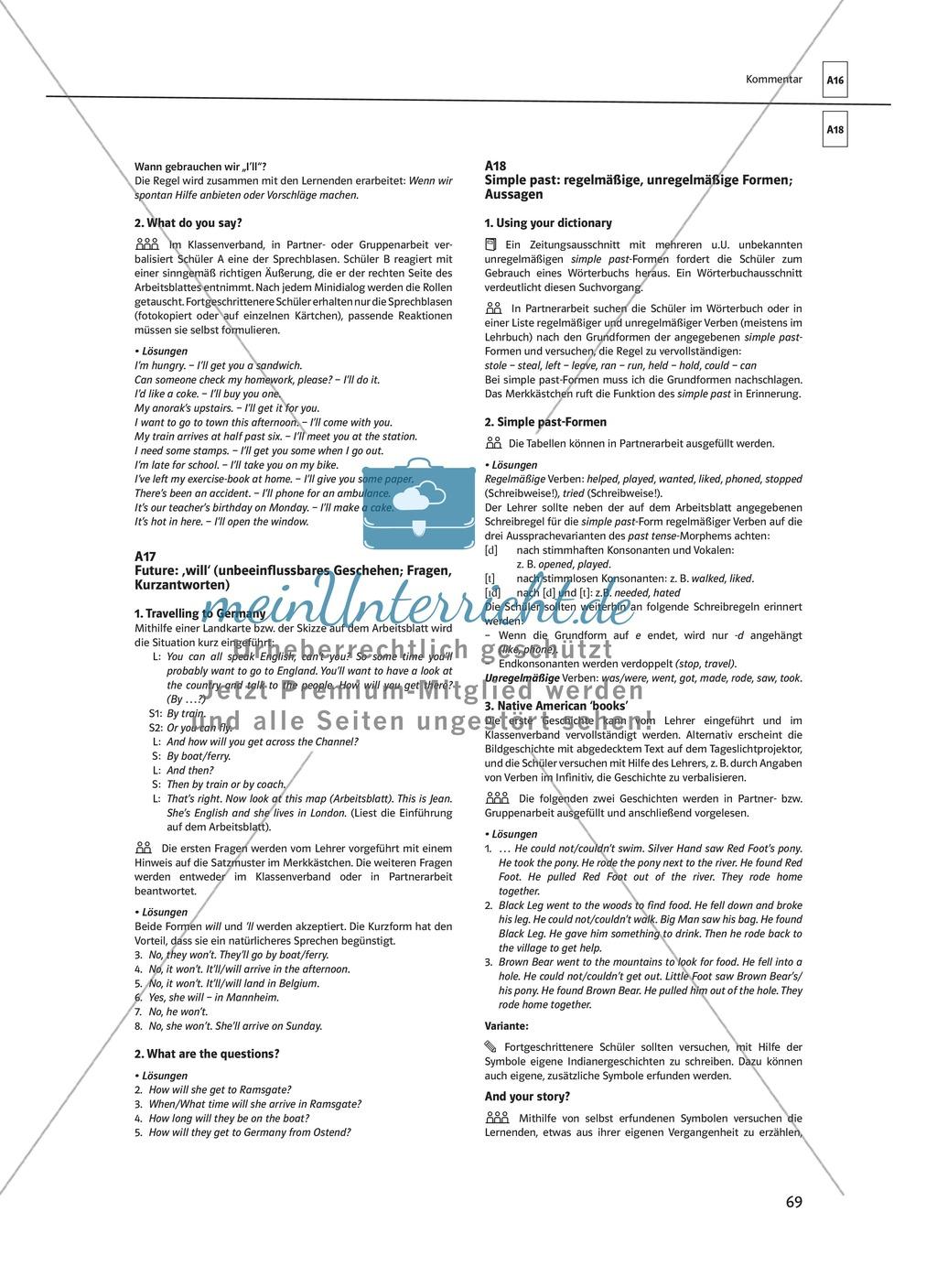 Arbeitsblätter für einen kommunikativen Grammatikunterricht: Future Preview 8