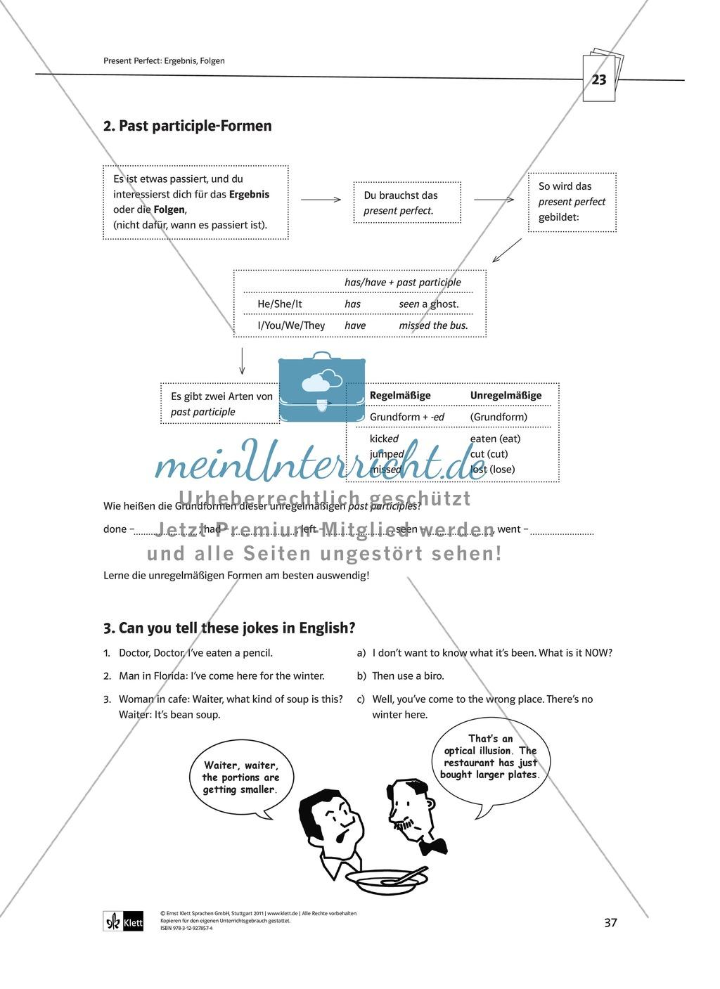 Arbeitsblätter für einen kommunikativen Grammatikunterricht: Present ...
