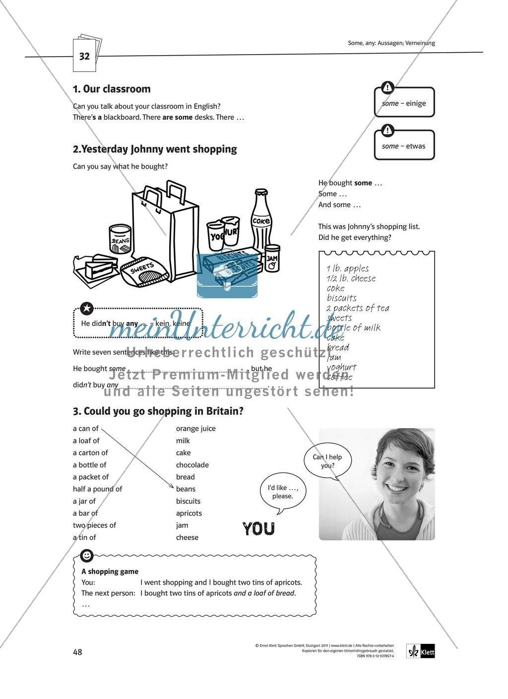Arbeitsblätter für einen kommunikativen Grammatikunterricht: Mengenangaben Preview 0