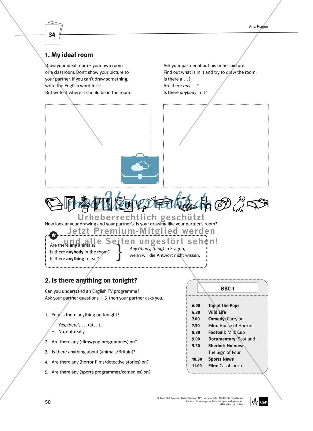 Arbeitsblätter für einen kommunikativen Grammatikunterricht: Mengenangaben Preview 2
