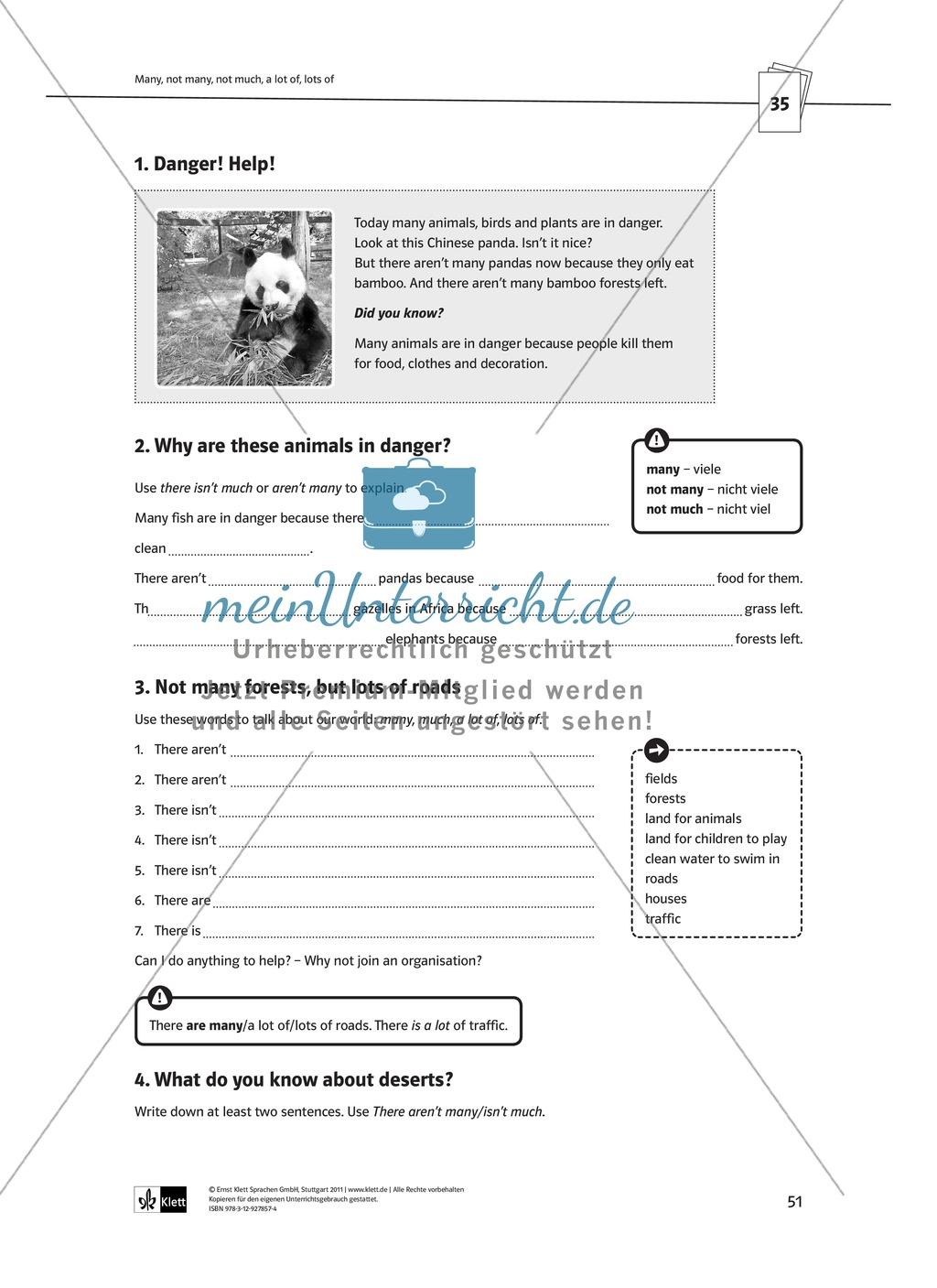 Arbeitsblätter für einen kommunikativen Grammatikunterricht: Mengenangaben Preview 3