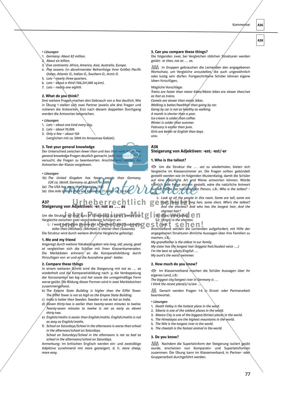 Arbeitsblätter für einen kommunikativen Grammatikunterricht: Mengenangaben Preview 7