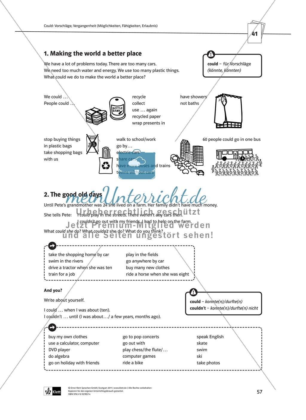 Arbeitsblätter für einen kommunikativen Grammatikunterricht: Modale ...