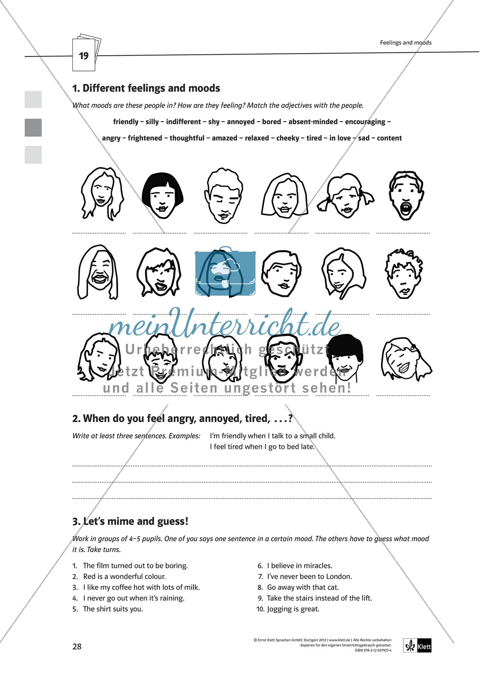 Arbeitsblätter für Vertretungsstunden in den Klassen 7 und 8 Preview 0