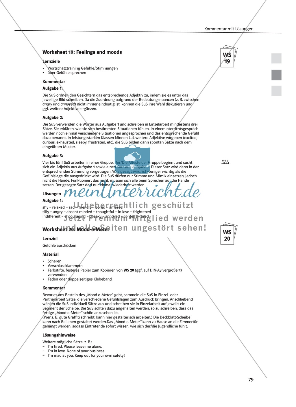 Arbeitsblätter für Vertretungsstunden in den Klassen 7 und 8 ...