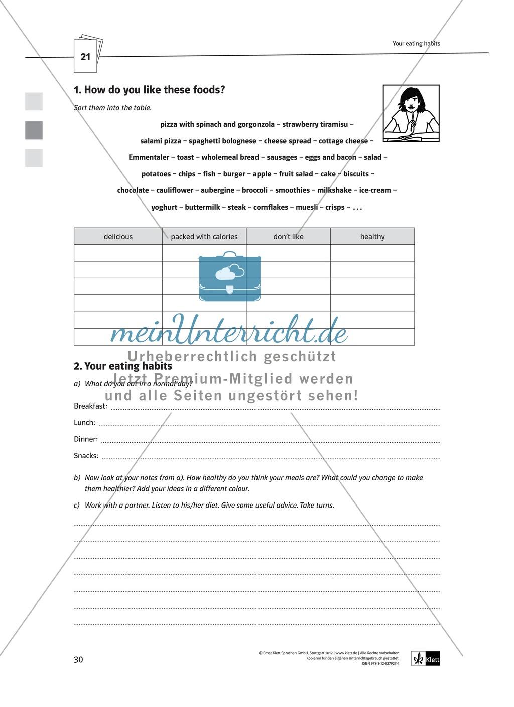 Arbeitsblätter für Vertretungsstunden in den Klassen 7 und 8 Preview 2