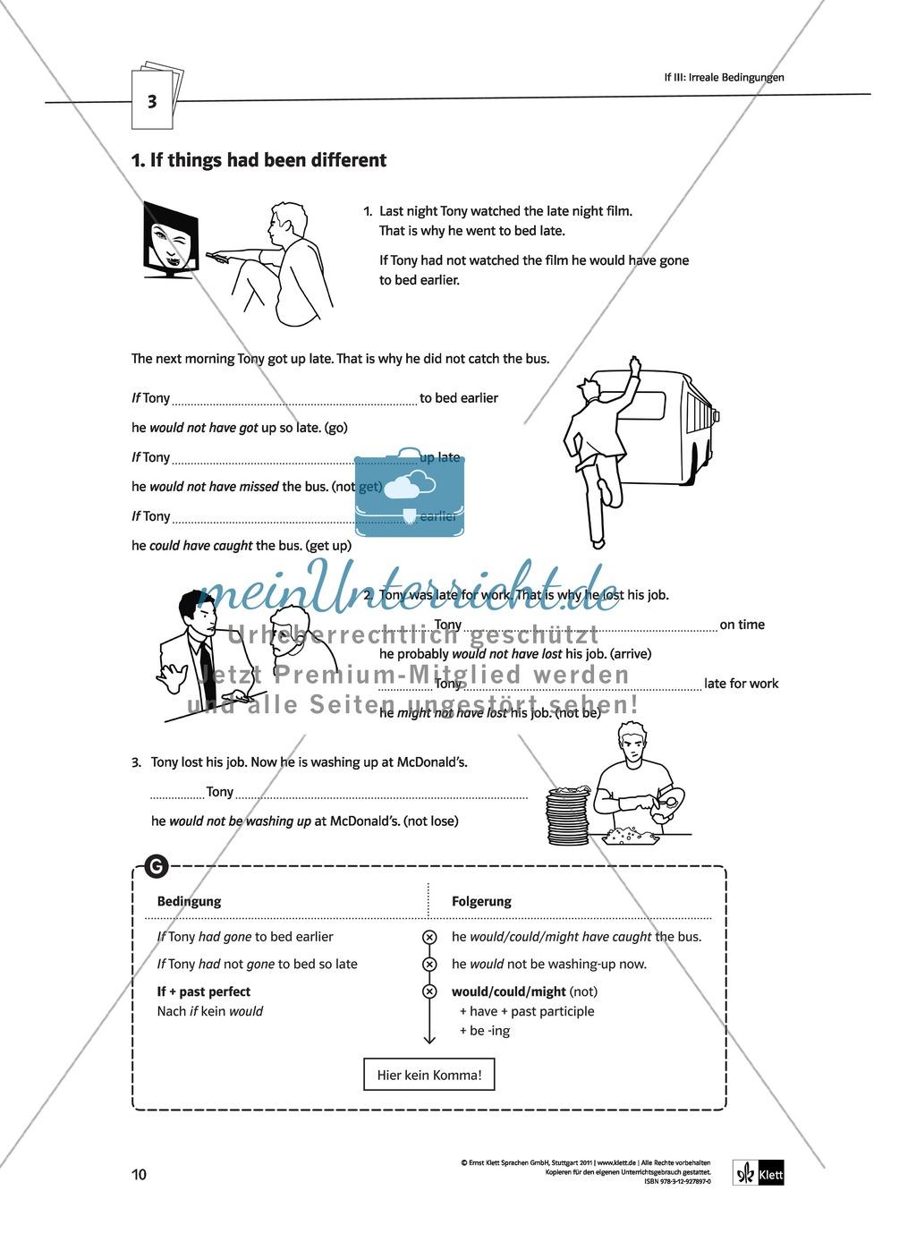 Englische Grammatik üben: Arbeitsblätter zu Bedingungssätzen ...