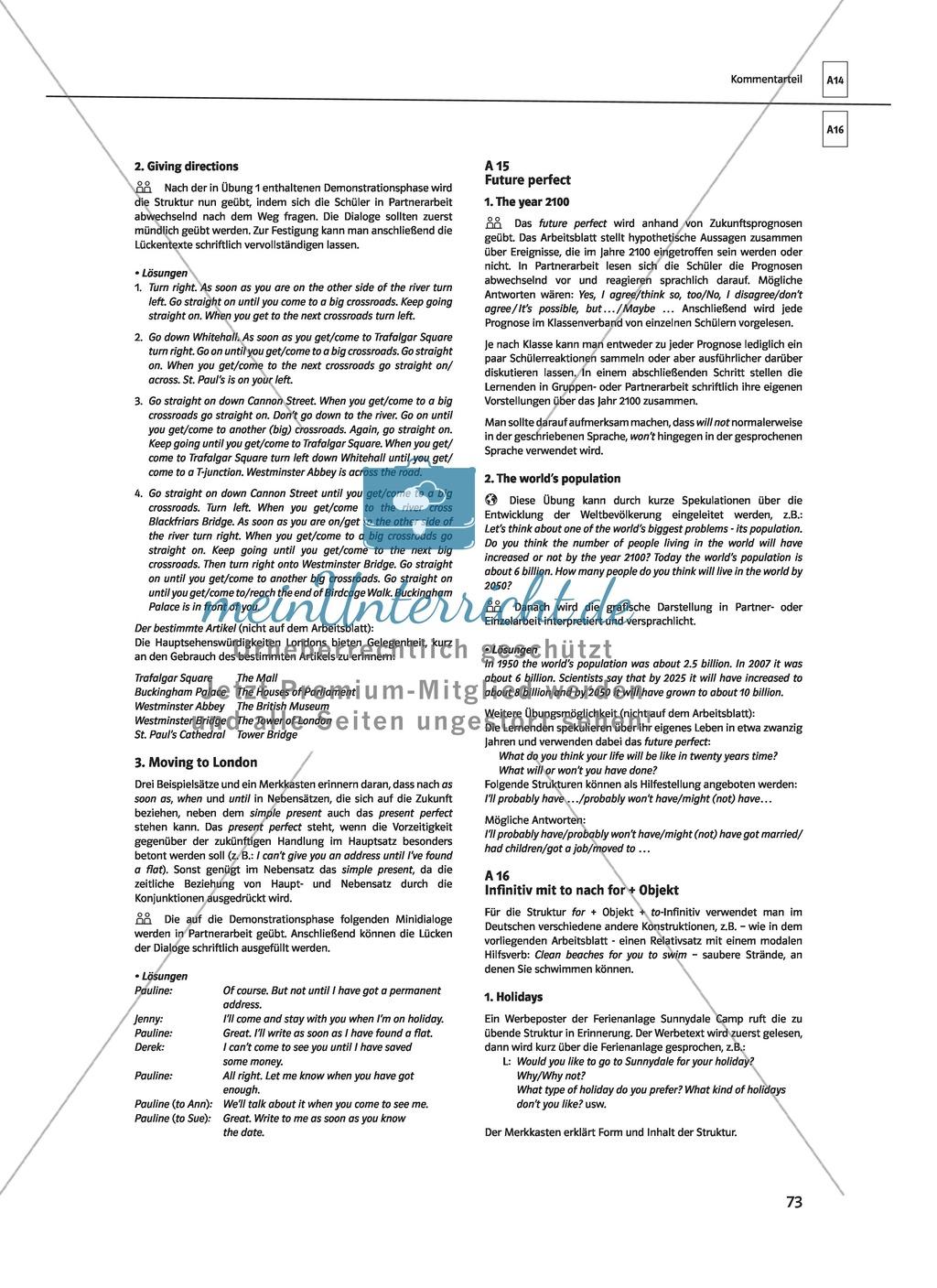 Englische Grammatik üben: Arbeitsblätter zum Infinitiv - meinUnterricht