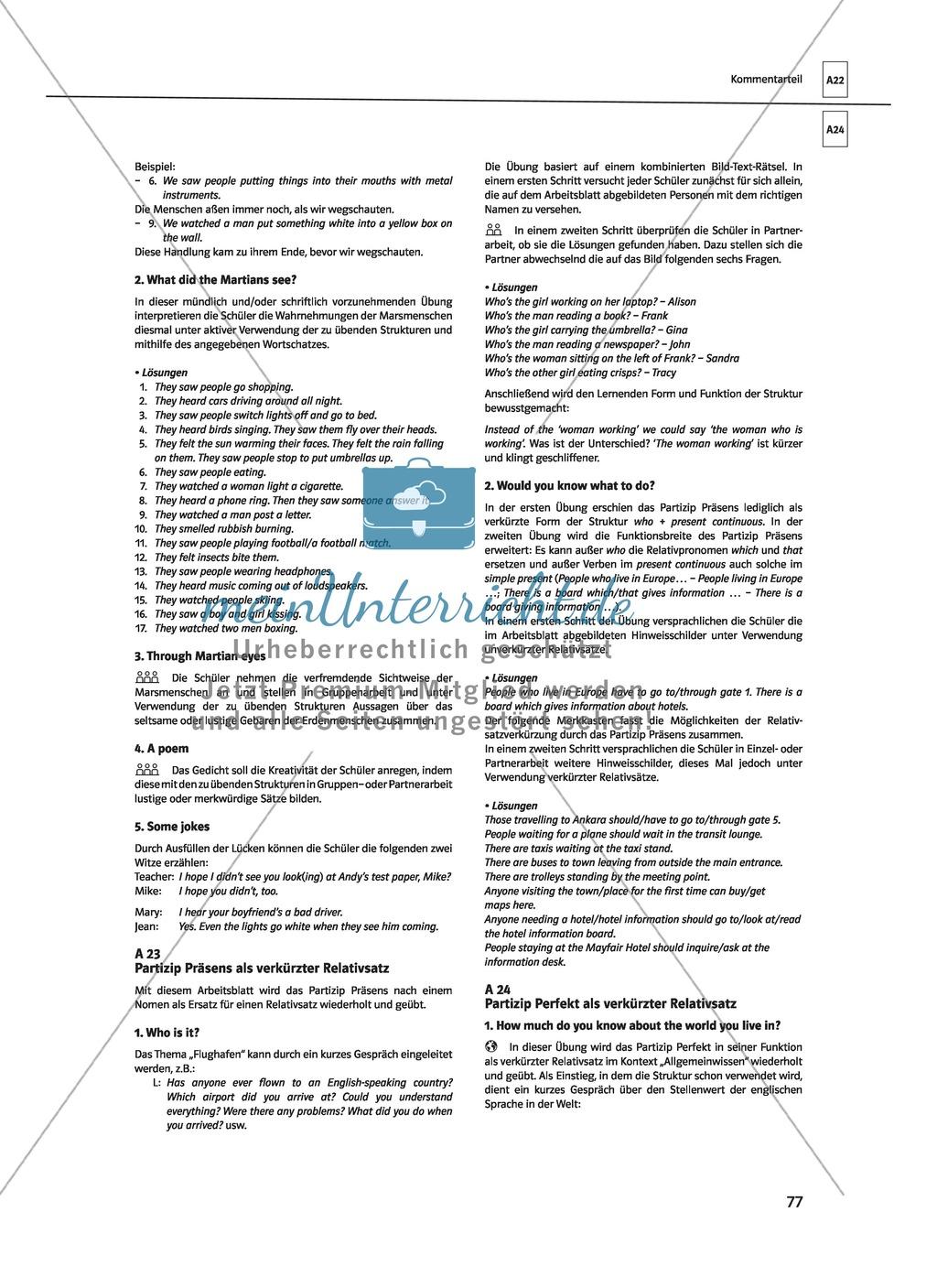 Wunderbar Klasse 8 Englisch Grammatik Arbeitsblatt Fotos - Mathe ...