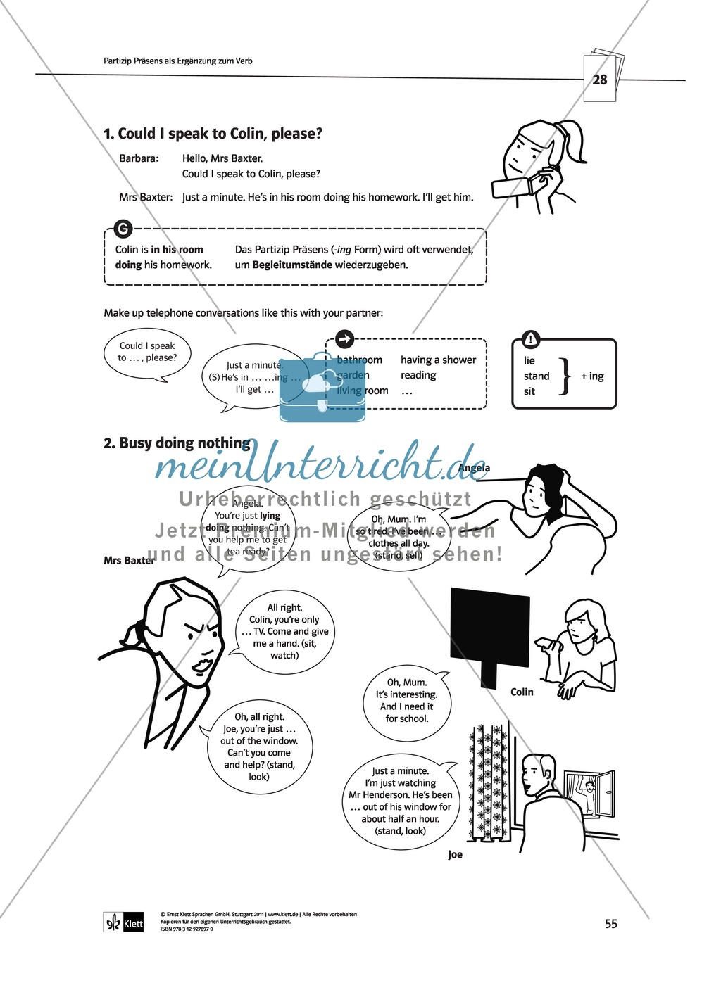 Englische Grammatik üben: Arbeitsblätter zu Partizipien Preview 10