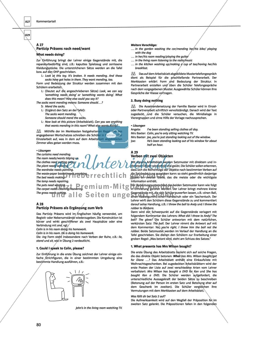 Englische Grammatik üben: Arbeitsblätter zu Partizipien Preview 14