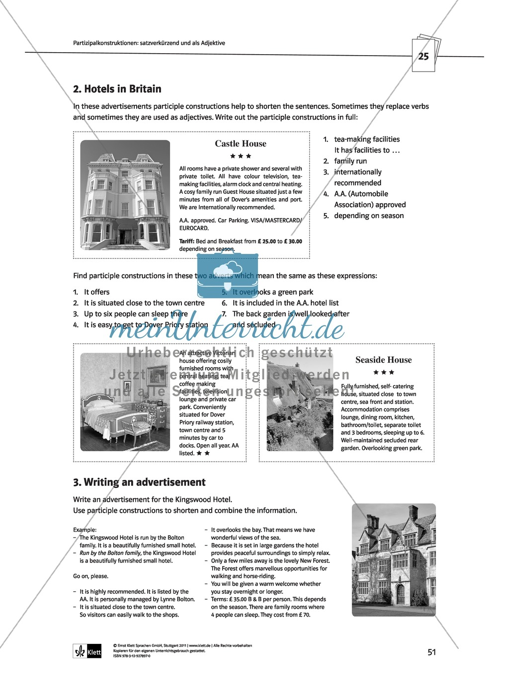 Englische Grammatik üben: Arbeitsblätter zu Partizipien Preview 6