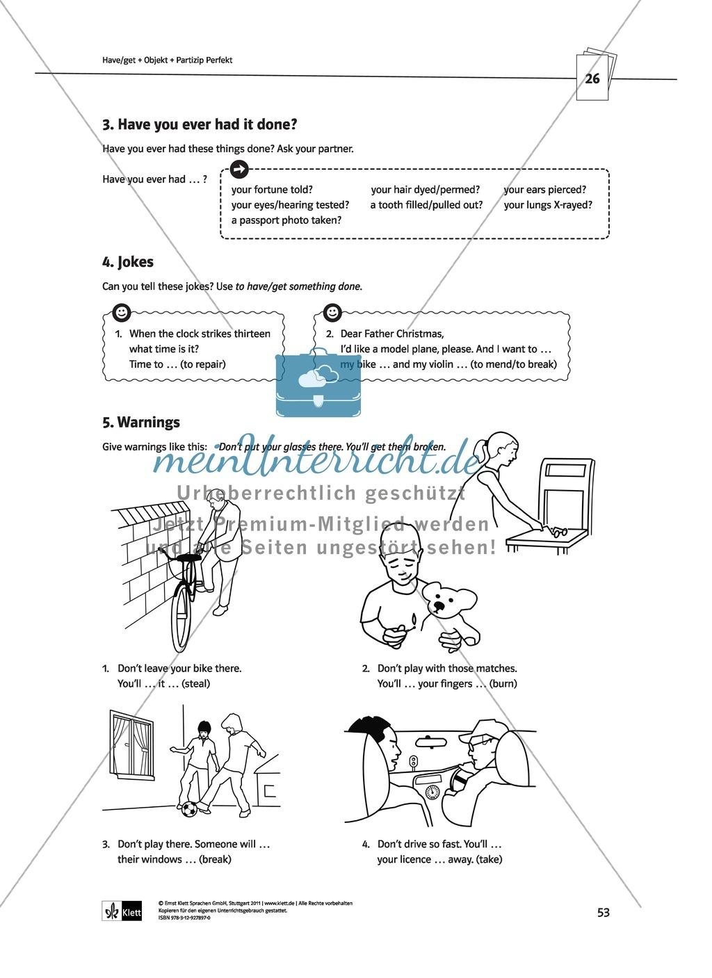 Englische Grammatik üben: Arbeitsblätter zu Partizipien Preview 8