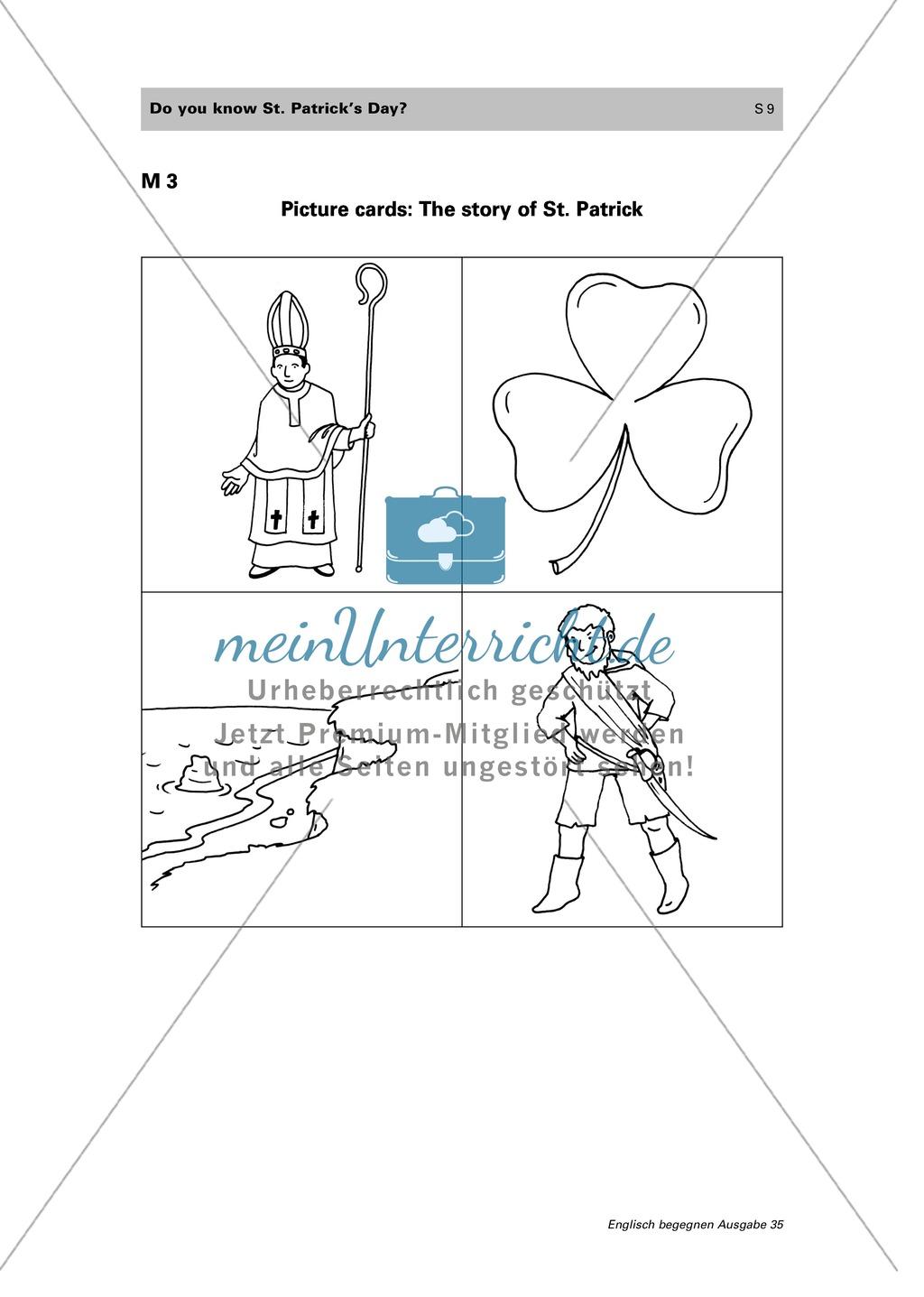 """Erarbeitung des irischen Feiertags """"St. Patrick's day"""" und der zugrunde liegenden Legende: vocabulary + storytelling + write a play Preview 4"""