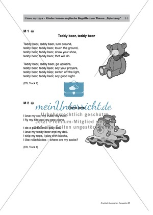 Englisch Klasse 1 – Arbeitsblätter | meinUnterricht.de