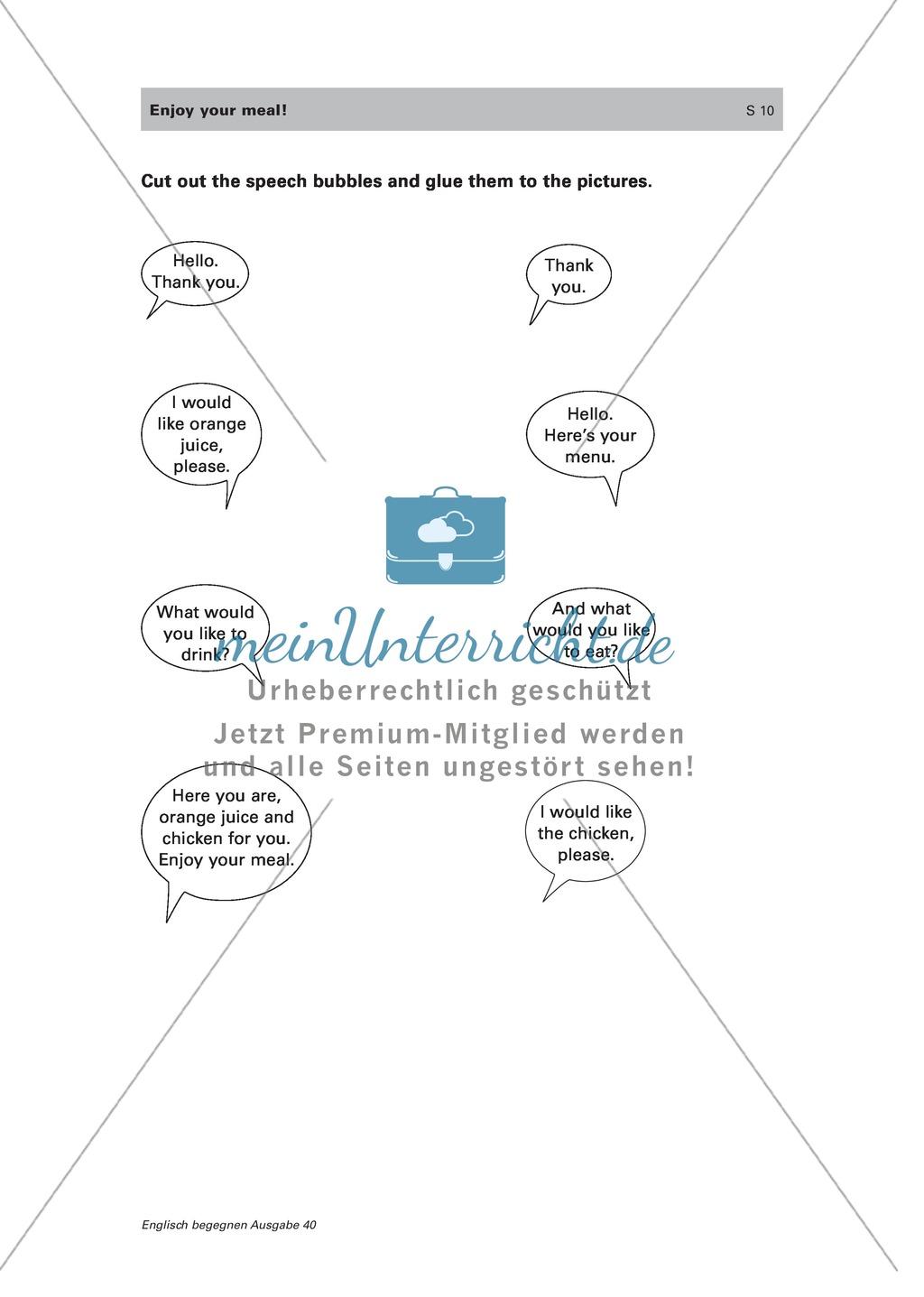 Wortschatz und Dialogarbeit zum Thema