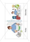 Die Wochentage auf Englisch lernen: Sally's timetable Preview 7