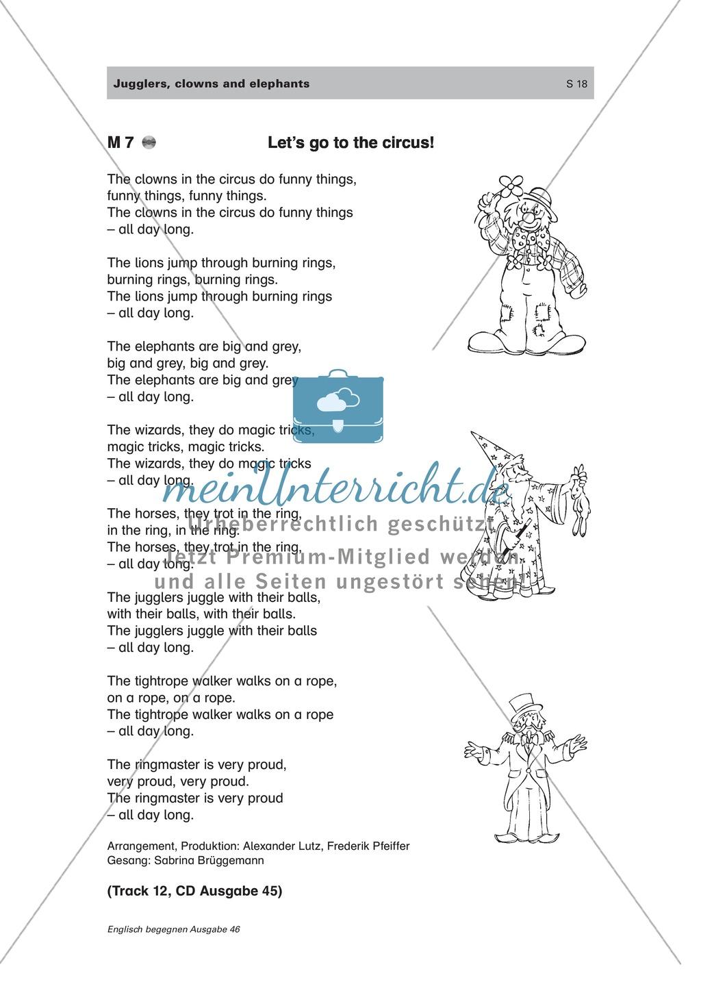 Englischen Wortschatz spielerisch erarbeiten: the circus Preview 8