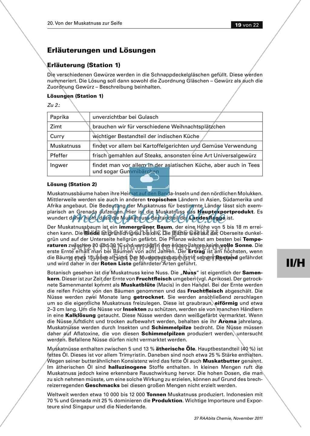 Lipide im Alltag: Lückentext zu Wissenswertem über die Muskatnuss Preview 3