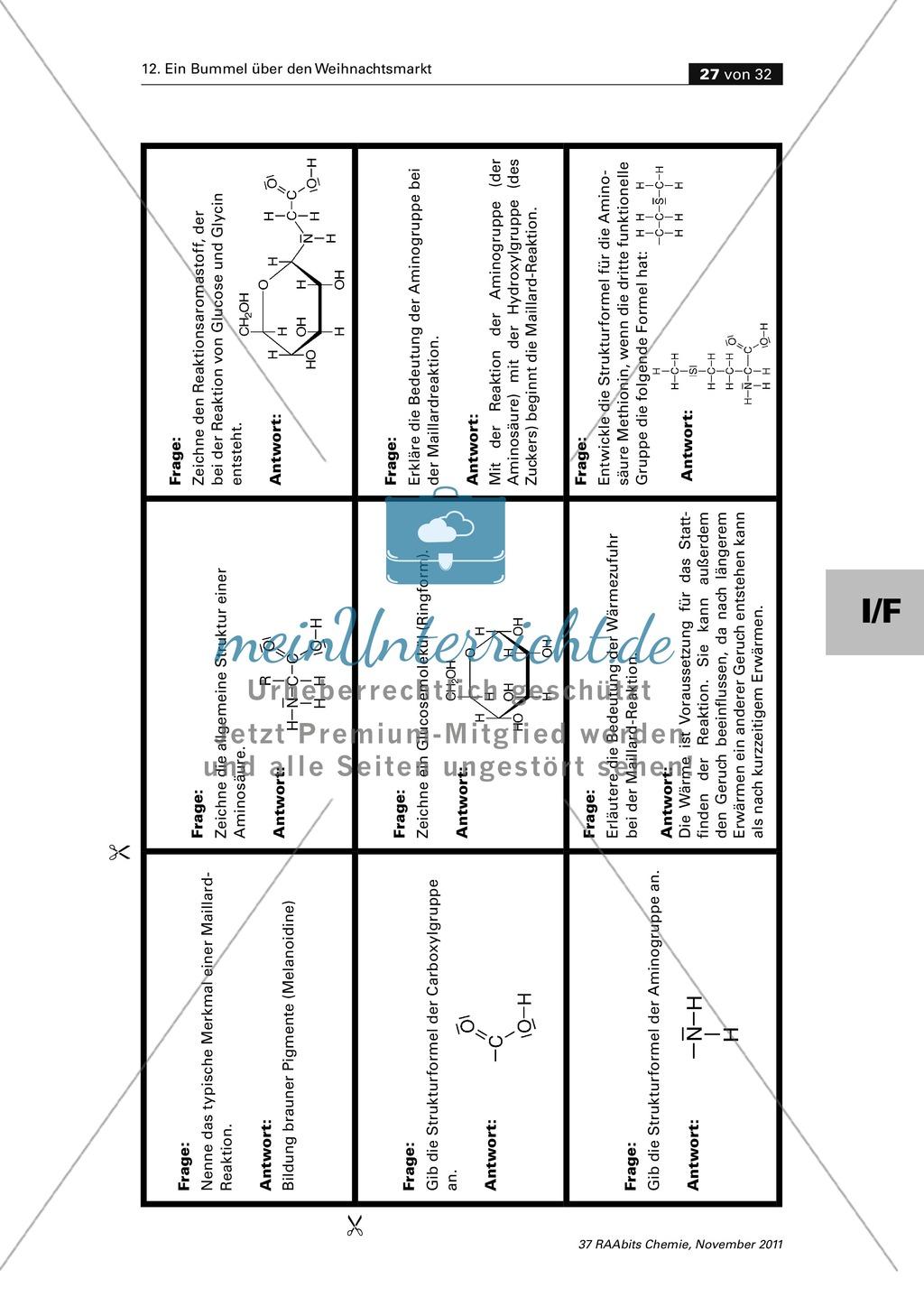 Organische Chemie an Stationen - Bummel über den Weihnachtsmarkt Preview 24