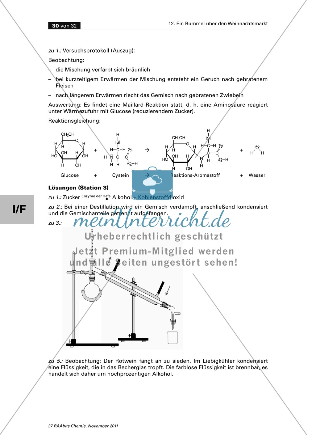 Organische Chemie an Stationen - Bummel über den Weihnachtsmarkt Preview 27