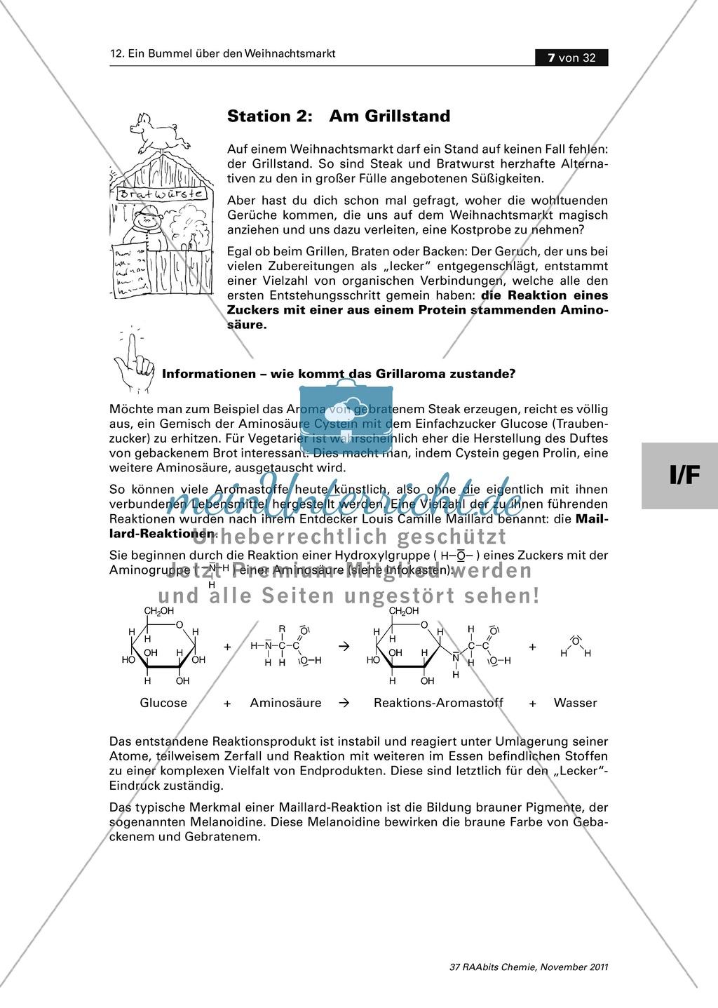 Organische Chemie an Stationen - Bummel über den Weihnachtsmarkt Preview 4