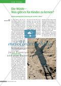 """Die Wüste – Was gibt es für Kinder zu lernen? - Religionspädagogische Bedeutung des Symbols """" Wüste """" Preview 1"""
