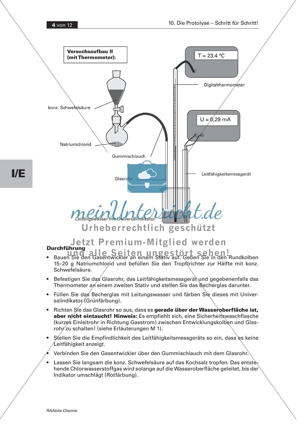 Einsiteg in die Protolyse: Reaktion von Chlorwasserstoffgas mit Wasser Preview 1