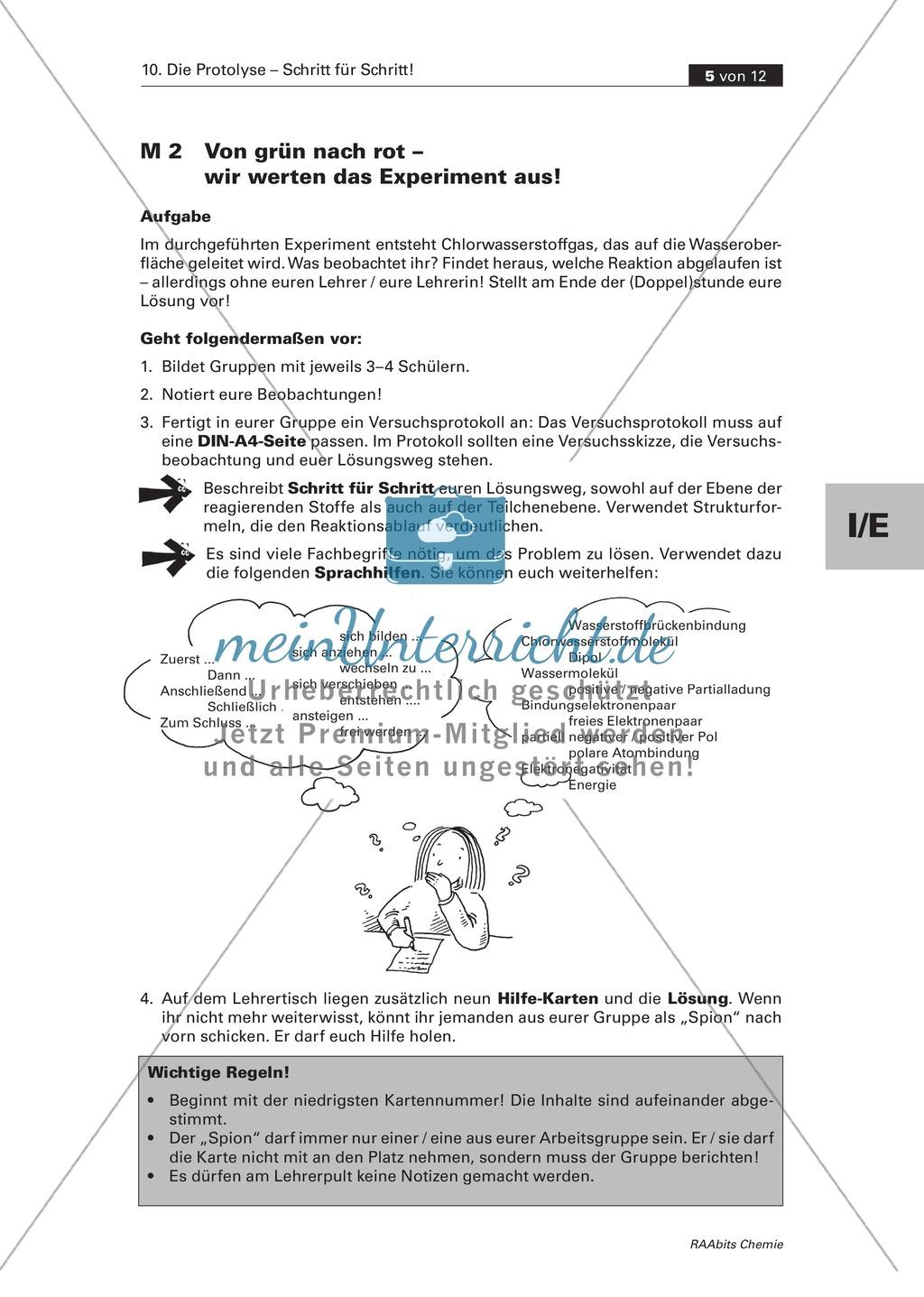 Selbstständige Erarbeitung der Protolyse mit abgestuften Lernhilfen Preview 3