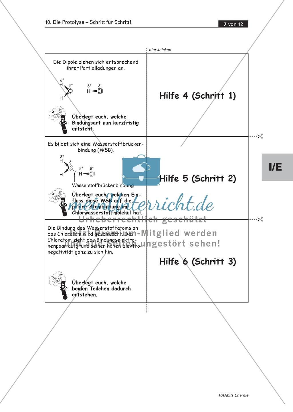 Selbstständige Erarbeitung der Protolyse mit abgestuften Lernhilfen Preview 4
