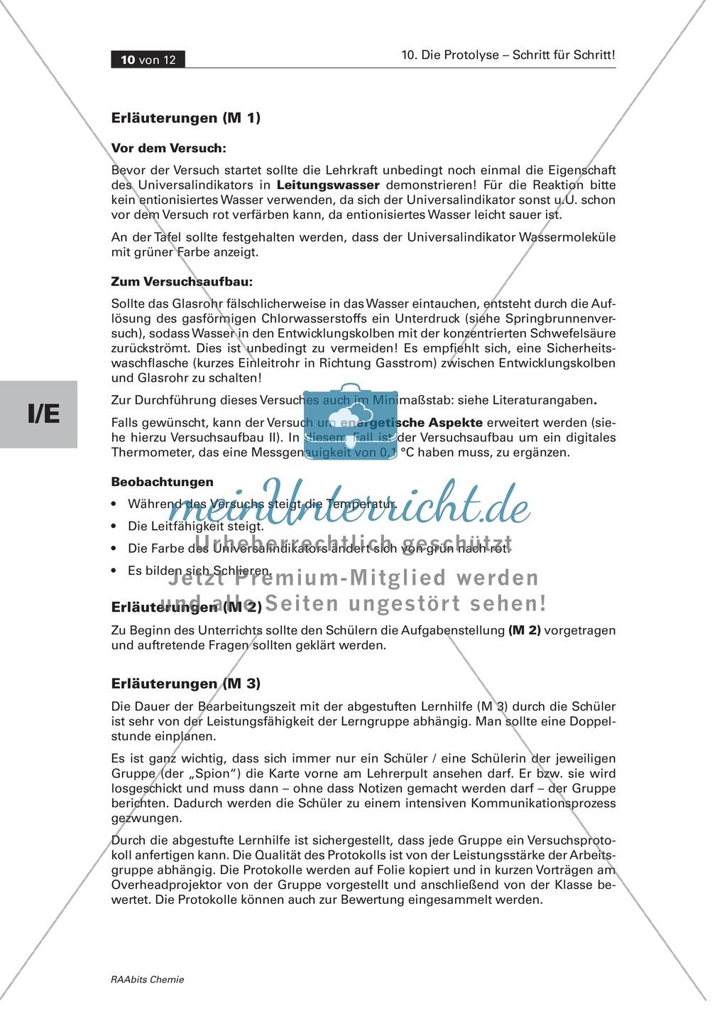 Selbstständige Erarbeitung der Protolyse mit abgestuften Lernhilfen Preview 7
