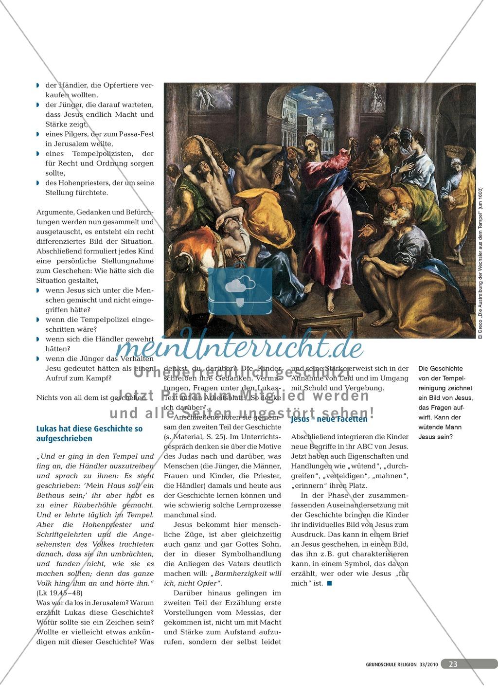 Neue Facetten von Jesus - Die Geschichte der Tempelreinigung Preview 1