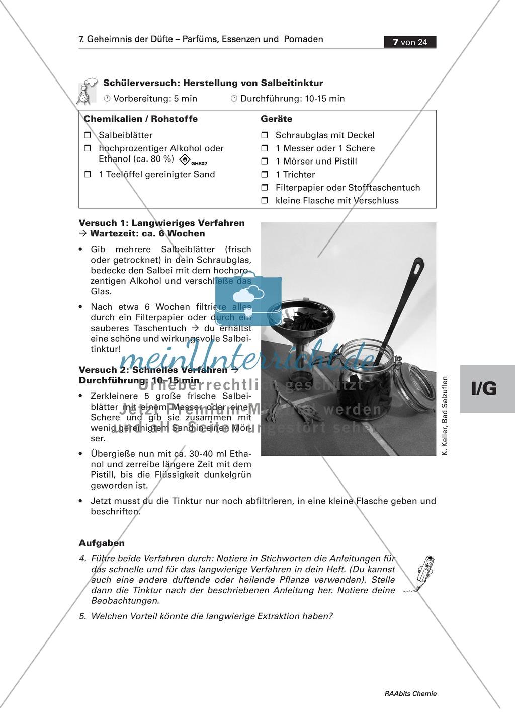 Herstellung einer Salbei-Tinktur durch Extraktion und Informationen zu seiner Anwendung bei Entzündungen Preview 1