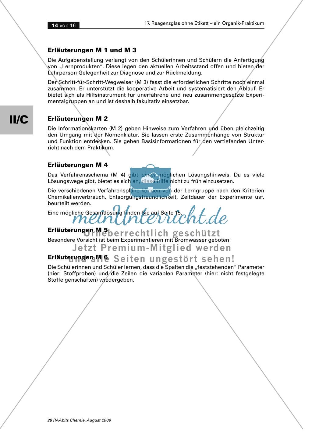 Verfahrensschema zur Identifizierung unbekannter Kohlenstoffverbindungen Preview 9