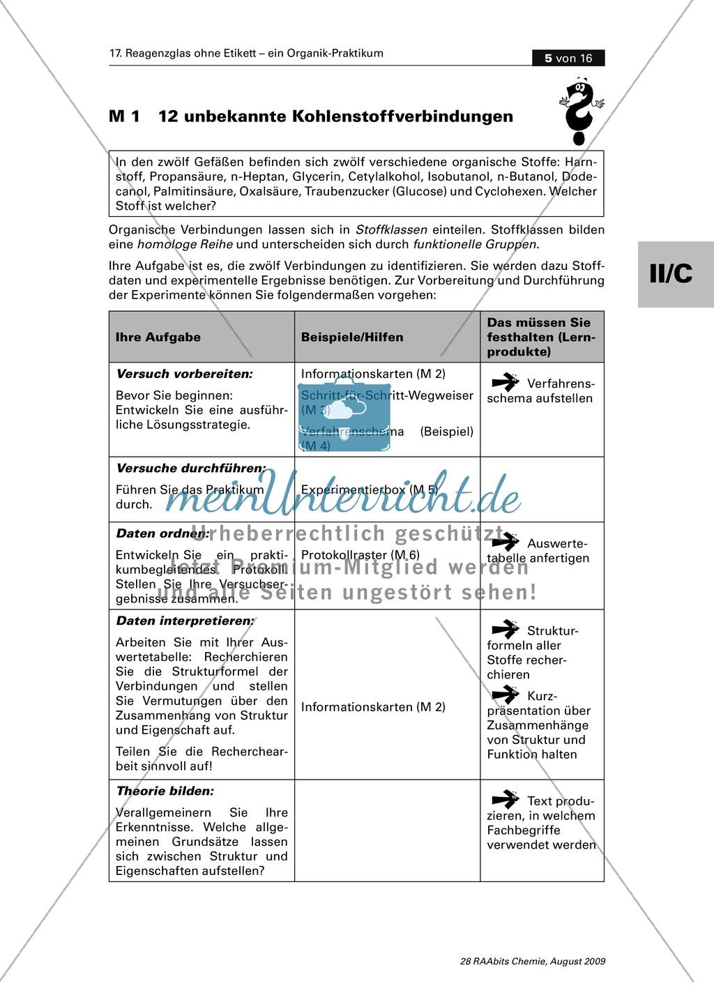Verfahrensschema zur Identifizierung unbekannter Kohlenstoffverbindungen Preview 0