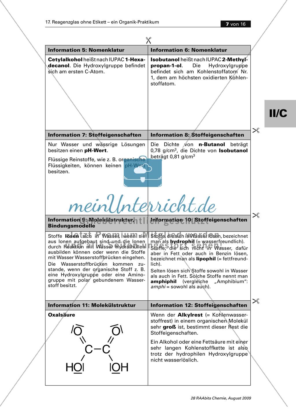 Verfahrensschema zur Identifizierung unbekannter Kohlenstoffverbindungen Preview 2