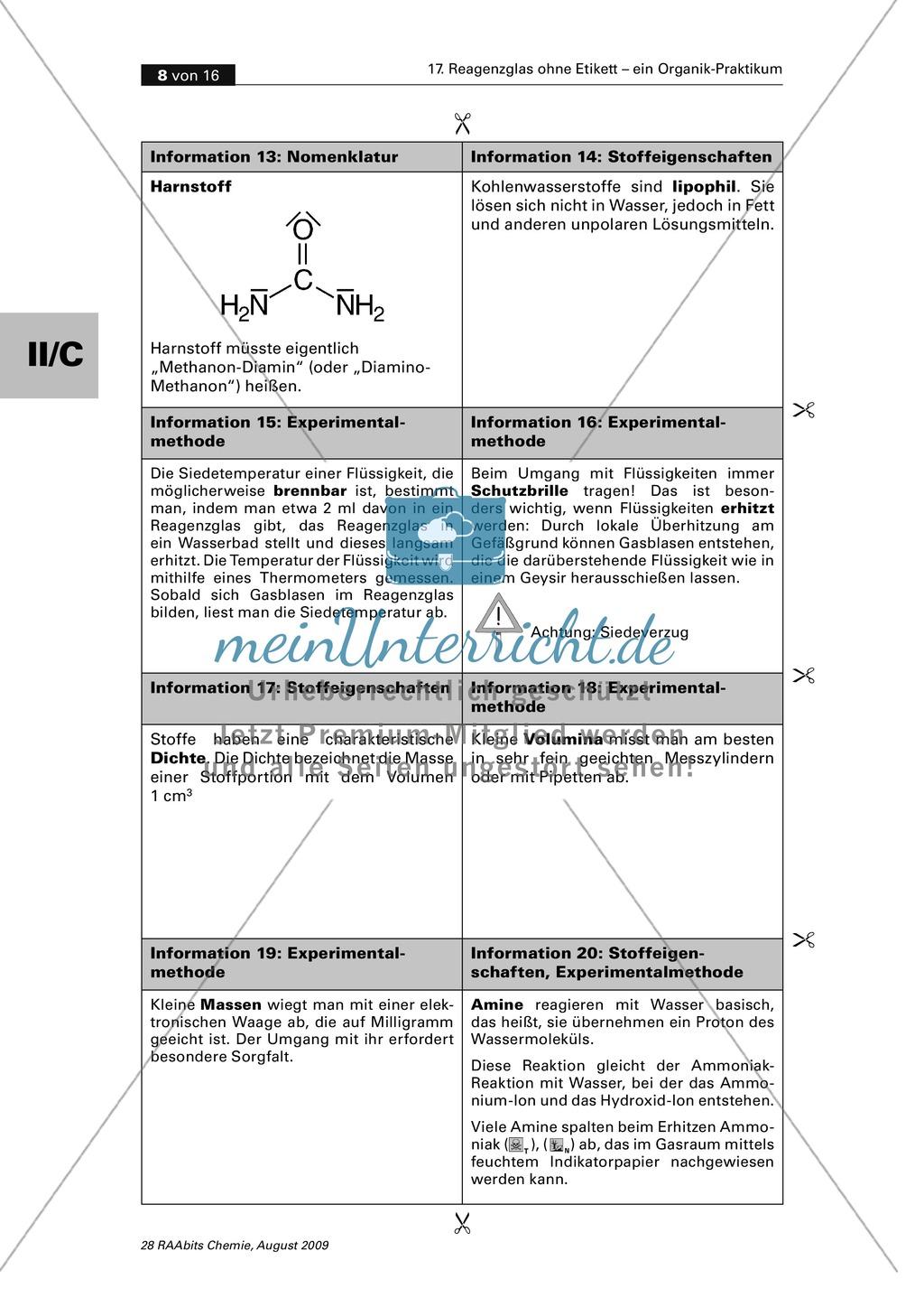 Verfahrensschema zur Identifizierung unbekannter Kohlenstoffverbindungen Preview 3