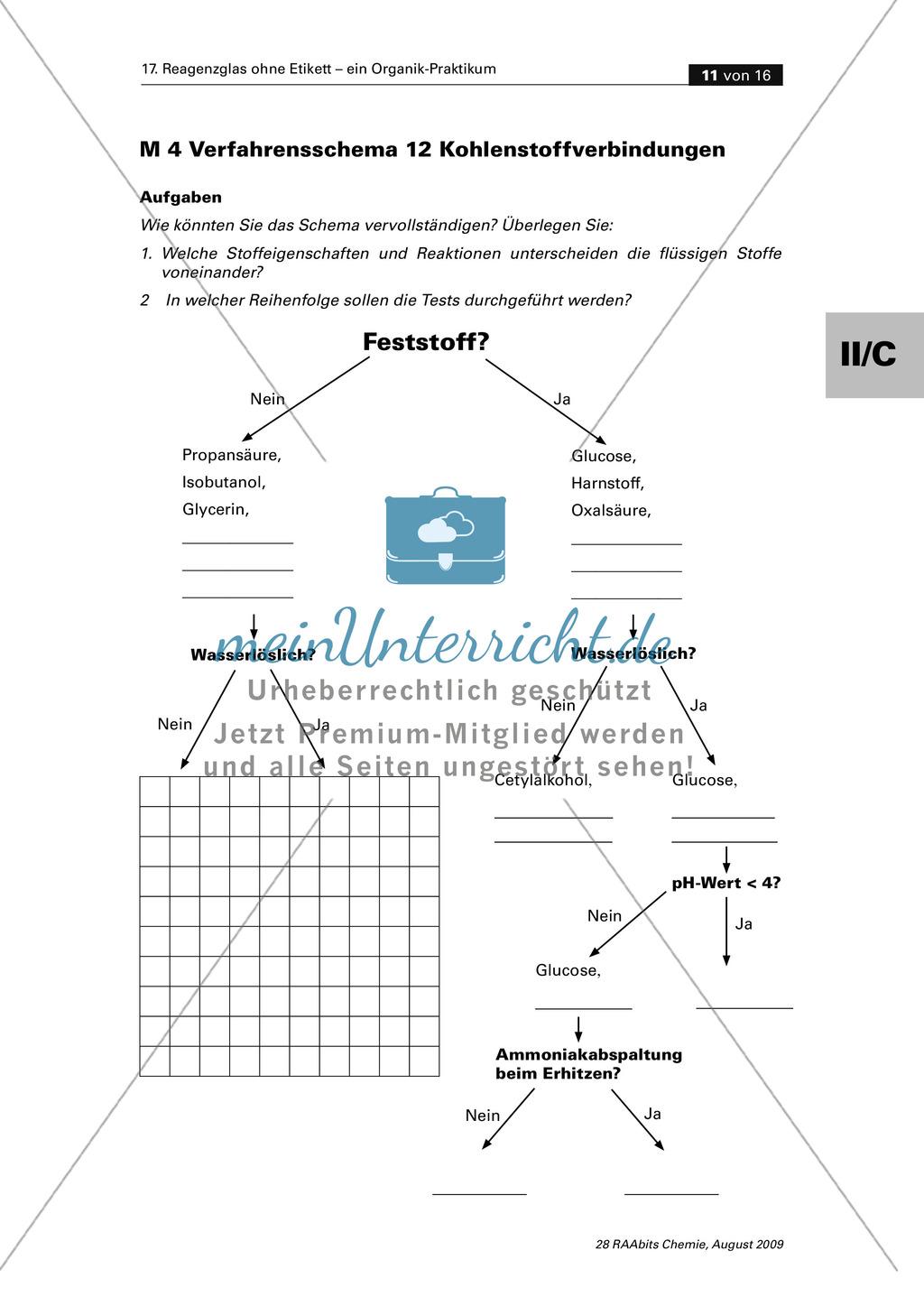 Verfahrensschema zur Identifizierung unbekannter Kohlenstoffverbindungen Preview 6