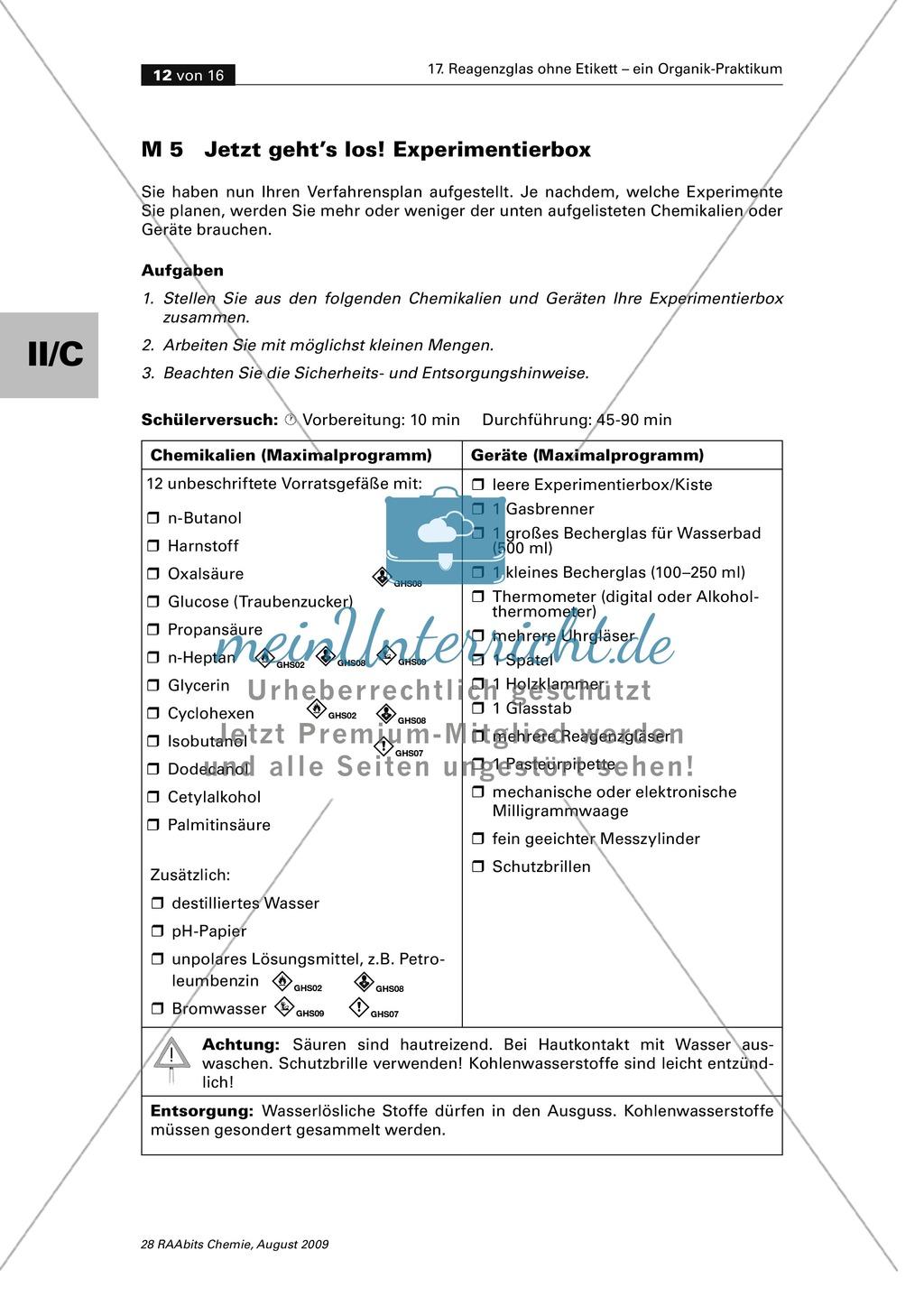 Verfahrensschema zur Identifizierung unbekannter Kohlenstoffverbindungen Preview 7