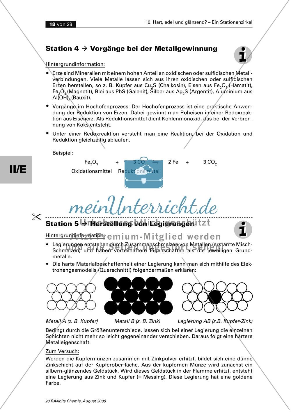 Stationenarbeit zu Eigenschaften von Metallen mit vielen Experimenten Preview 9